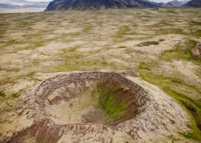 Iceland is littered with craters such as this one.