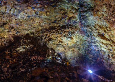 Inside the world's only accesible magma chamber.