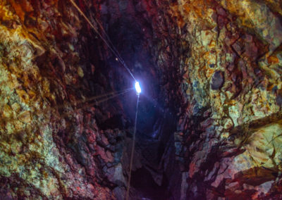 The view from the bottom of the magma chamber.